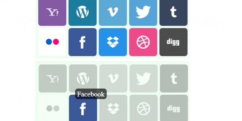 Làm social icon với hiệu ứng hover tooltips bằng CSS 3