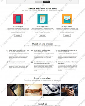 Download giao diện website survey Annova thiết kế responsive