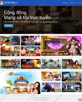 Dowwnload giao diện website App Store thiết kế responsive