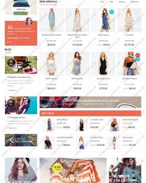 Giao diện website shop thời trang thiết kế responsive của nhóm tvlgiao
