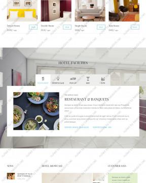 Giao diện website khách sạn Hotel Booking thiết kế responsive