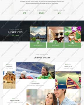 Giao diện website khách sạn Hotel Room thiết kế responsive