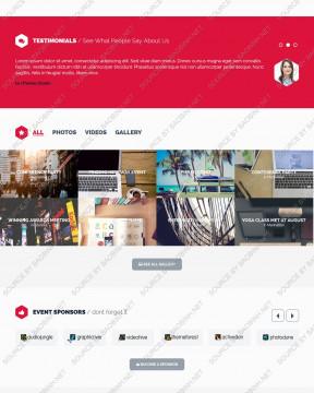 Giao diện website tổ chức sự kiện imEvent