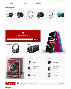 Giao diện shop bán hàng Inspire - digital