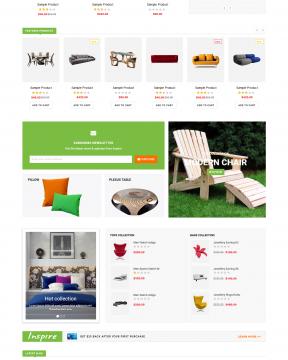 Giao diện bán hàng Inspire - Furniture