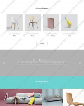 Download giao diện website nội thất Interior Dekor thiết kế responsive