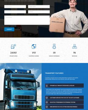 Max Logistics - Giao diện giới thiệu công ty vận chuyển