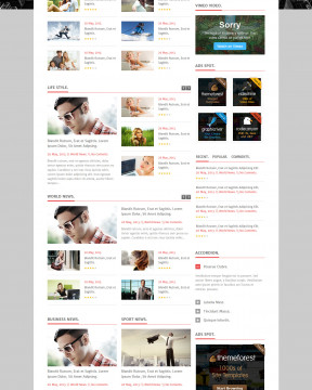 Giao diện tin tức news-html với nhiều phiên bản màu sáng tối
