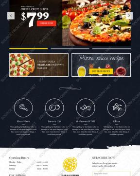 Giao diện bán pizza - nhà hàng cafe pizza Pizzeria