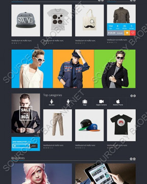 Giao diện website bán hàng Rammus thiết kế responsive
