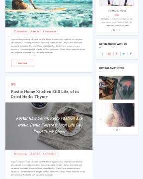 Shine blog - Giao diện website