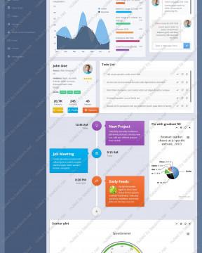 Giao diện admin template Xperia thiết kế responsive ( 3 phiên bản)